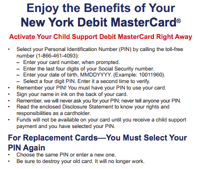 """How to Activate NYS Child Support Eppicard"""