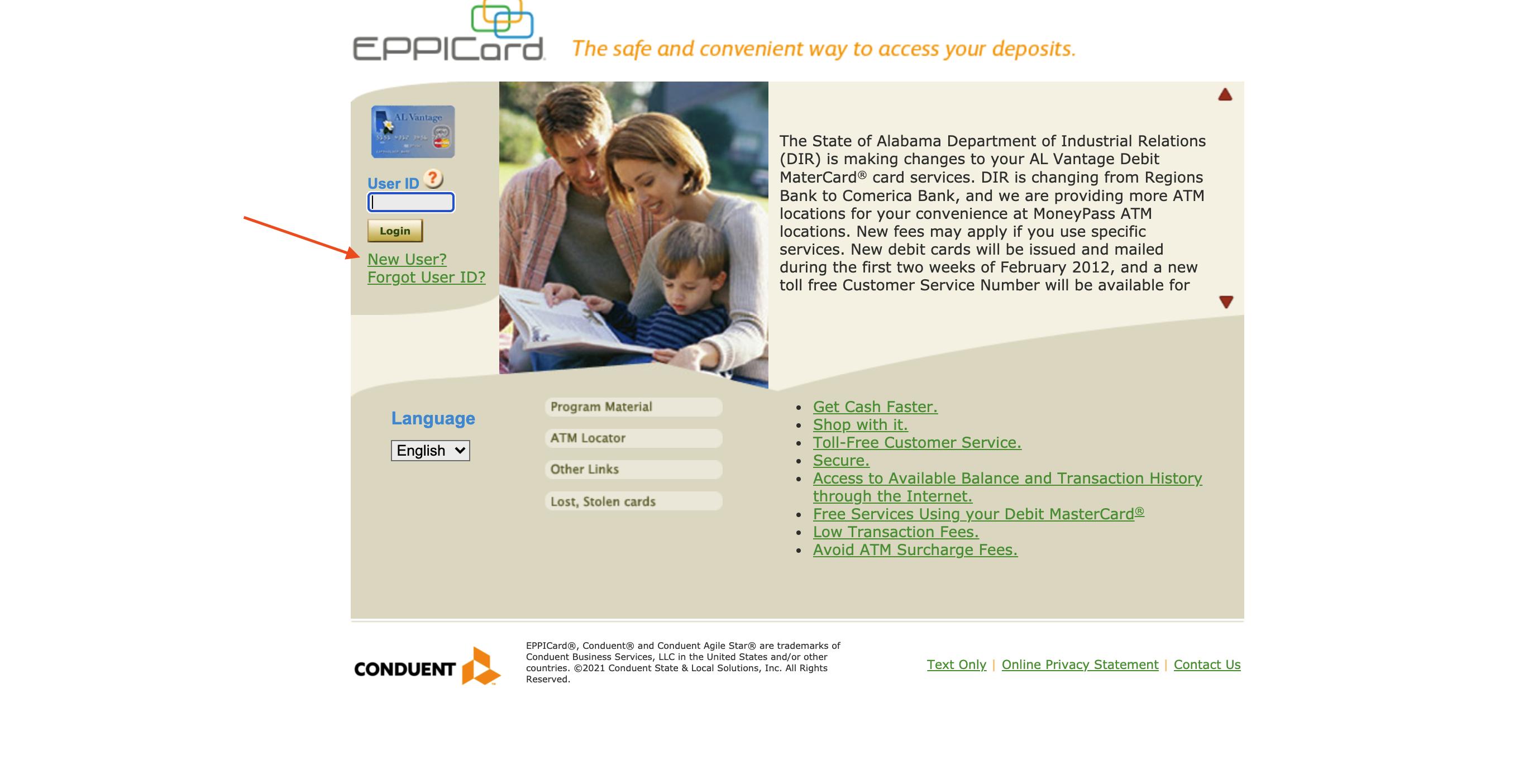 Create EPPICard Account
