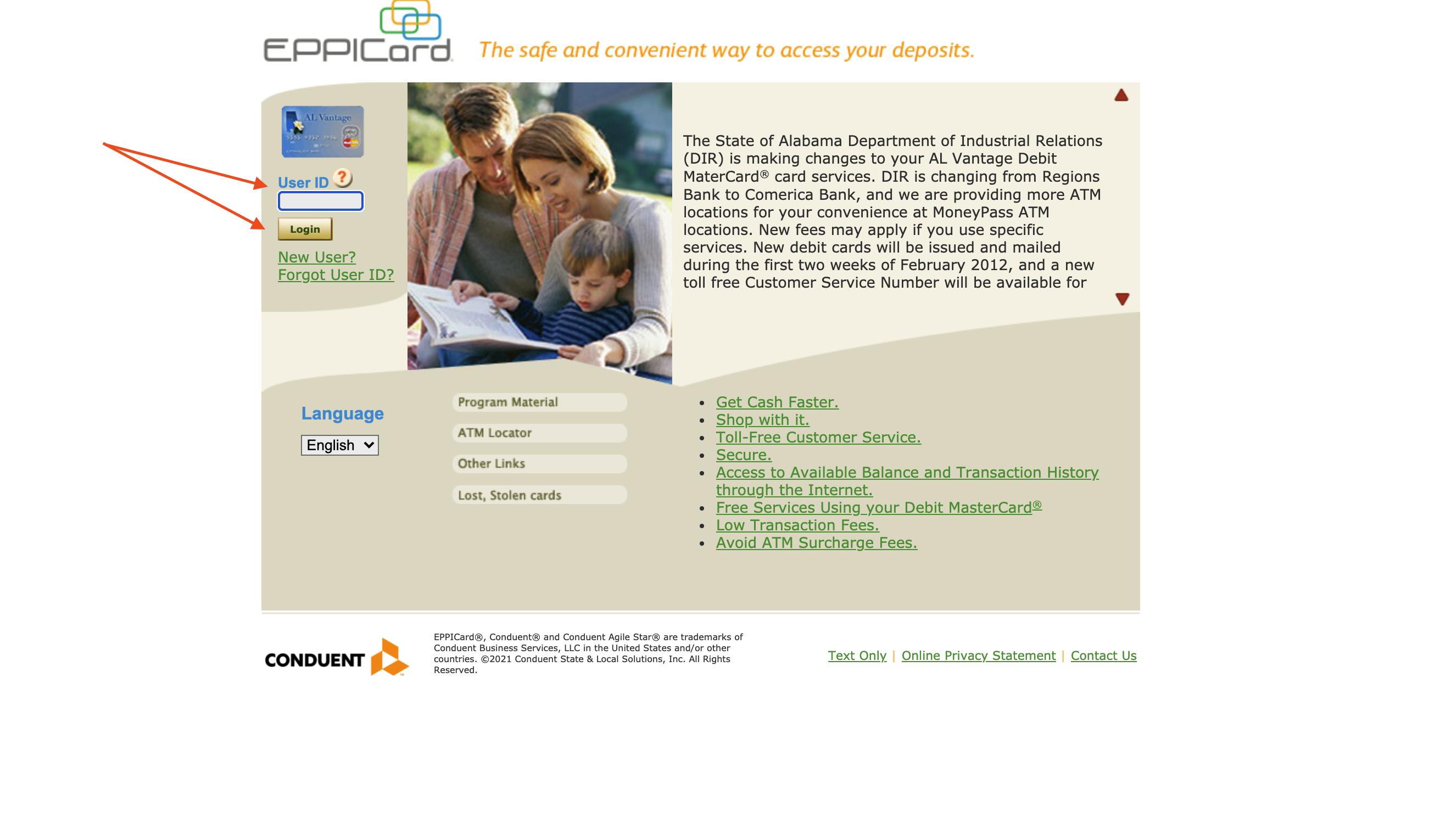 EPPICard User ID Login