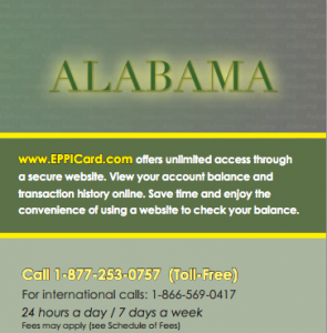 Alabama Child Support EPPIcard Customer Service
