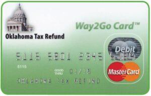 Oklahoma Way2Go Card for Tax Refund