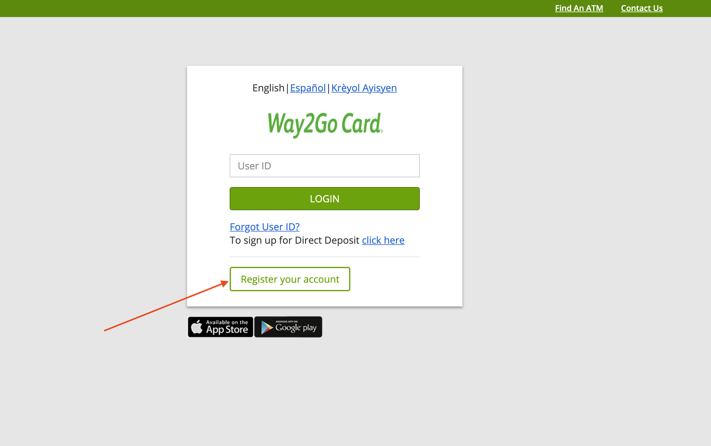 Create Mississippi Way2Go Card Account