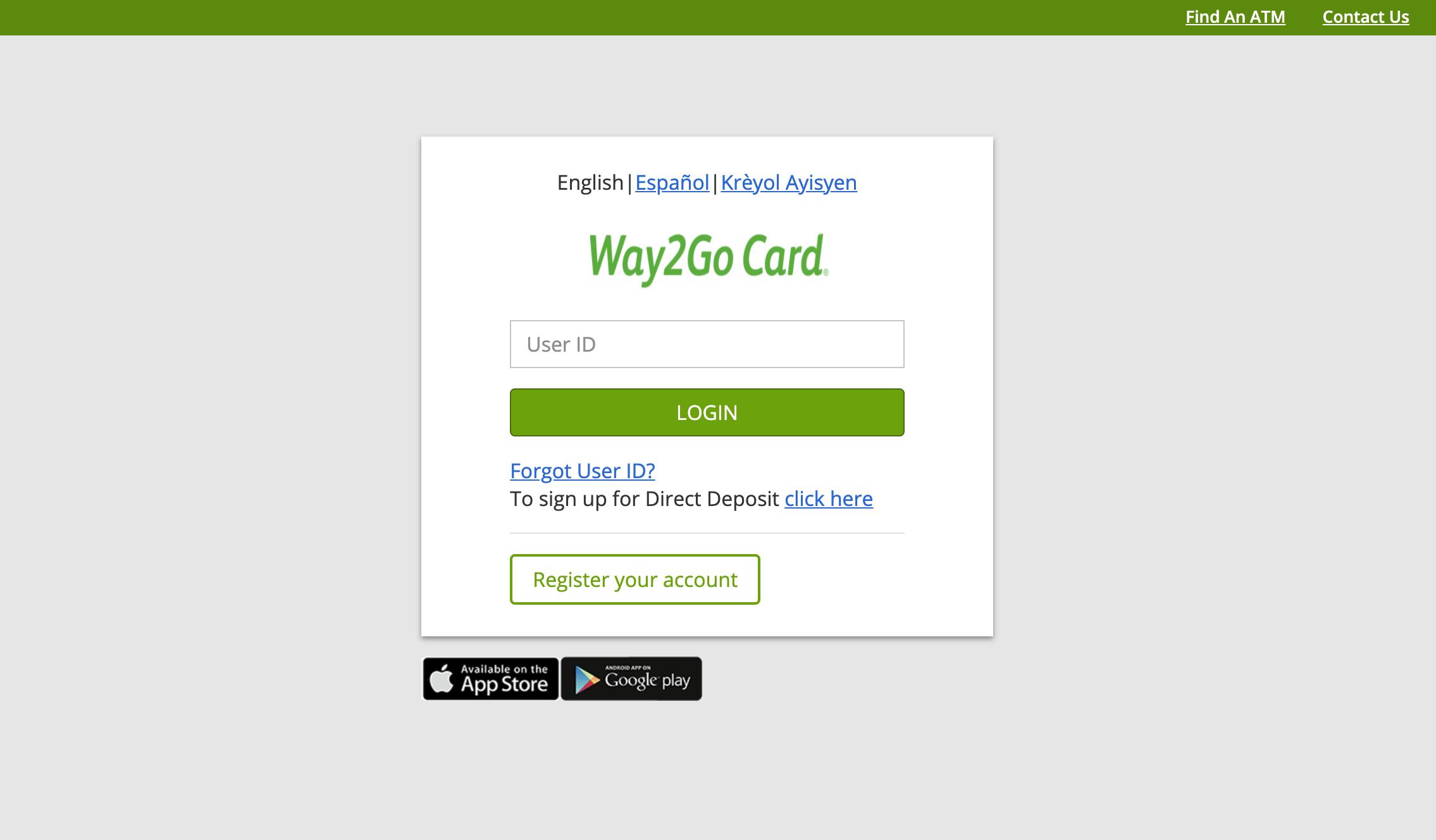 Mississippi Way2Go Unemployment Card Website