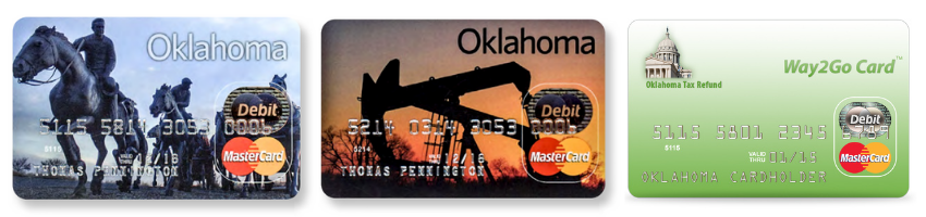 Oklahoma Way2Go Card for Unemployment, Cash Assistance and Tax Refund