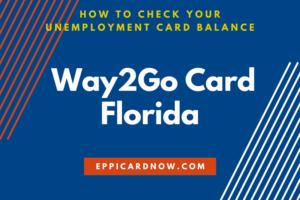 Florida Way2Go Card Balance Check